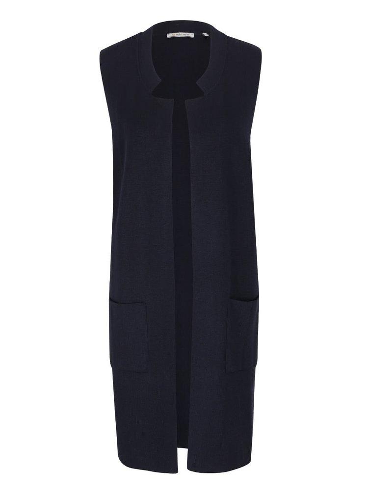 Tmavě modrá dlouhá vesta s kapsami Rich & Royal