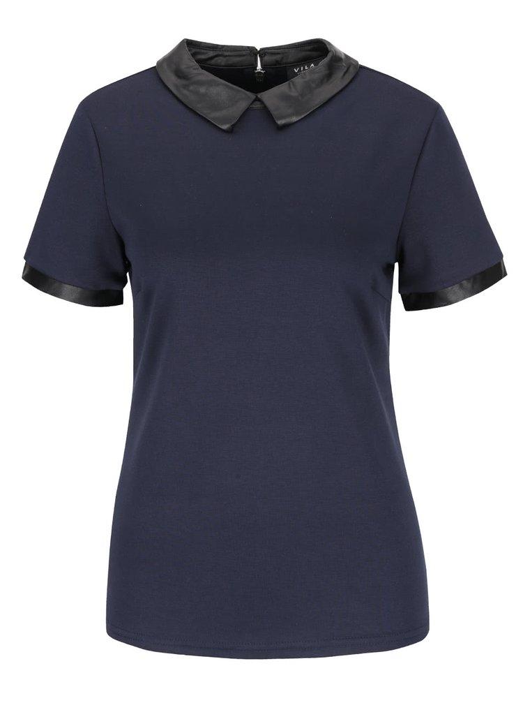 Tricou albastru închis VILA Tinny