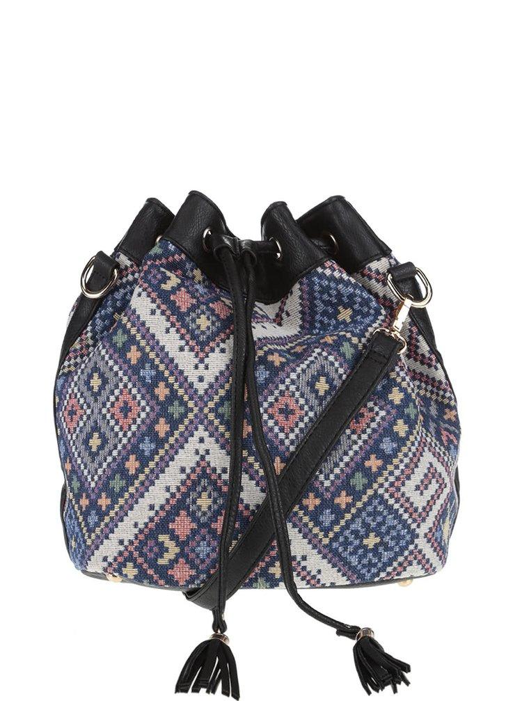 Tmavě modrá kabelka s barevným vzorem Haily´s Lara