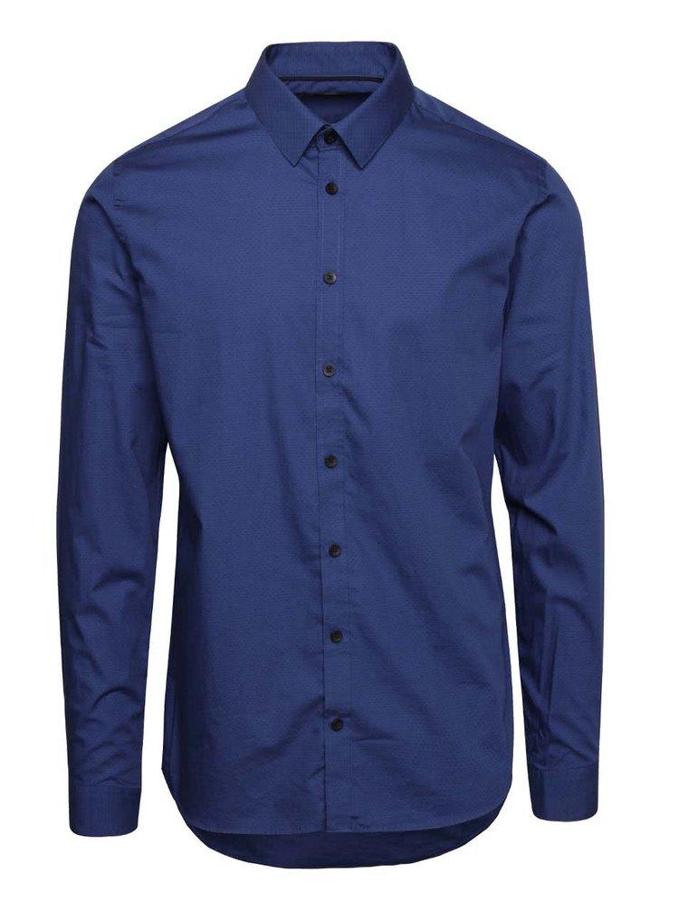 Modrá pánska  košeľa Casual Friday