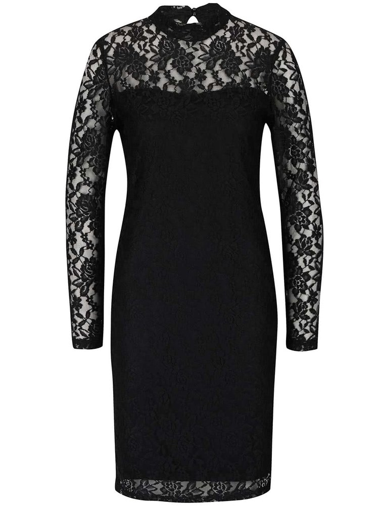 Čierne čipkové šaty PEP Feline