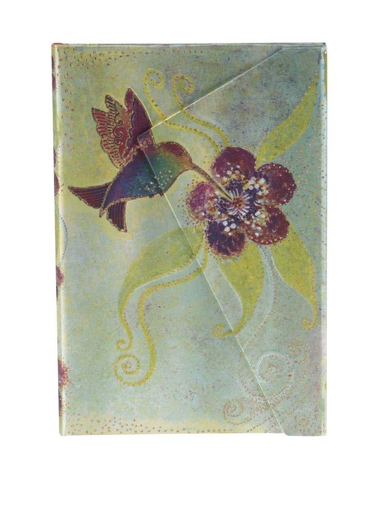 Růžovo-zelený linkovaný zápisník s kolibříkem Paperblanks Hummingbird Mini
