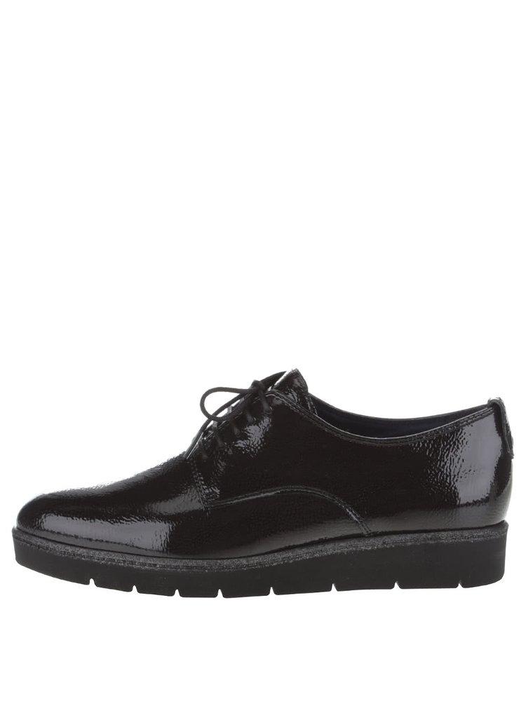 Pantofi negri Tamaris lucioși