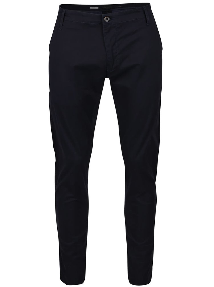 Modré slim-fit chino kalhoty Casual Friday