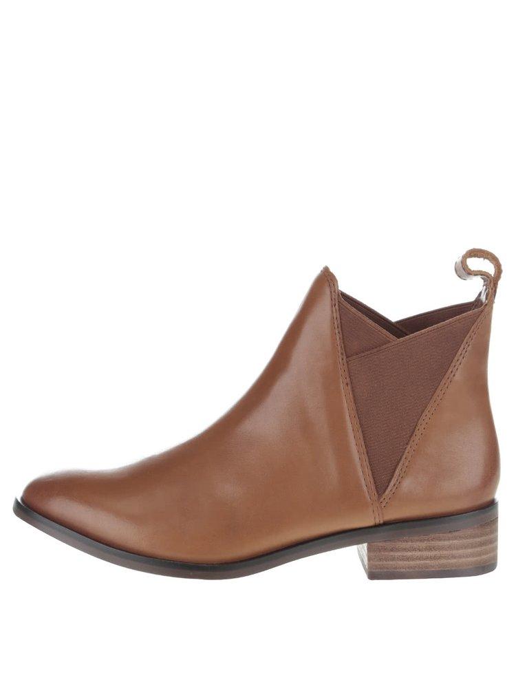 Hnedé kožené dámske chelsea topánky ALDO Scotch