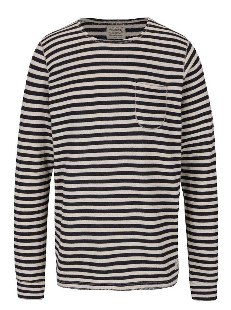 Modro-béžový tenký pruhovaný sveter Jack & Jones Bill