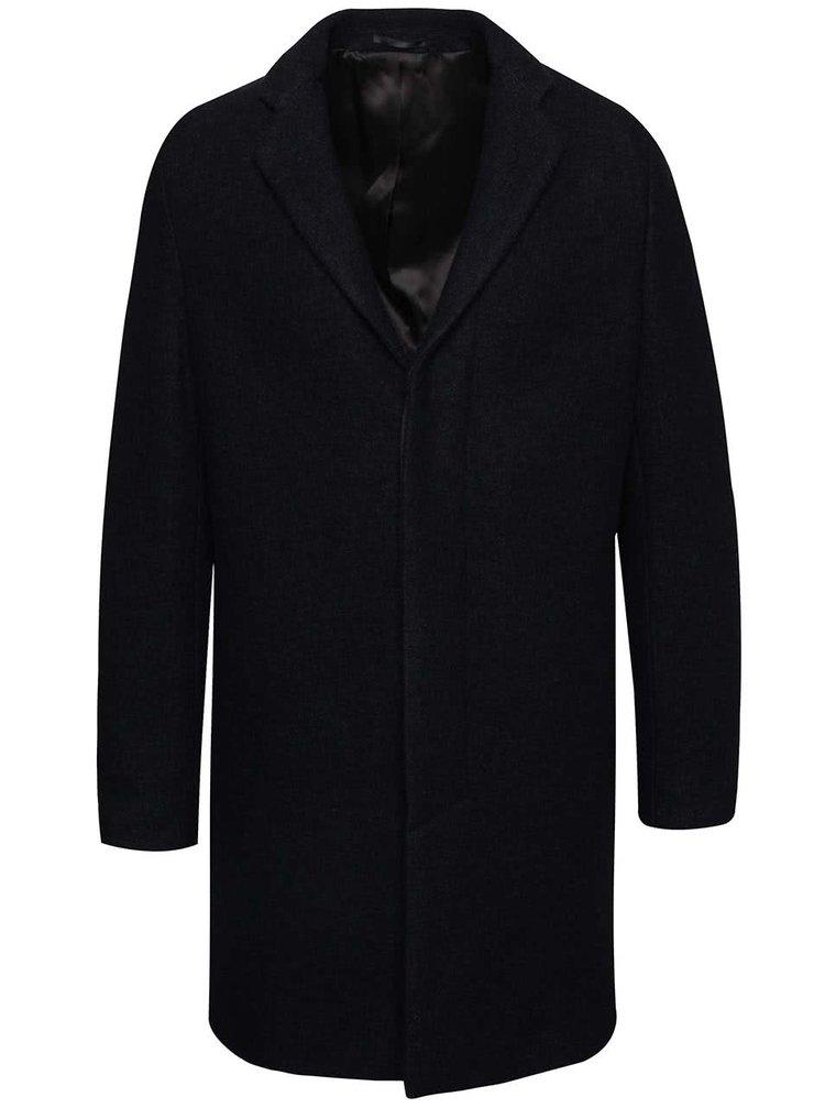Tmavě modrý kabát Selected Homme Brook Boucle