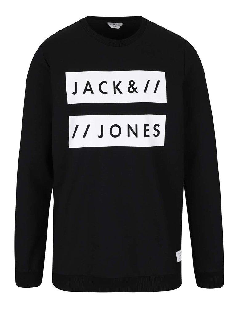 Bluză neagră Jack & Jones Box cu print