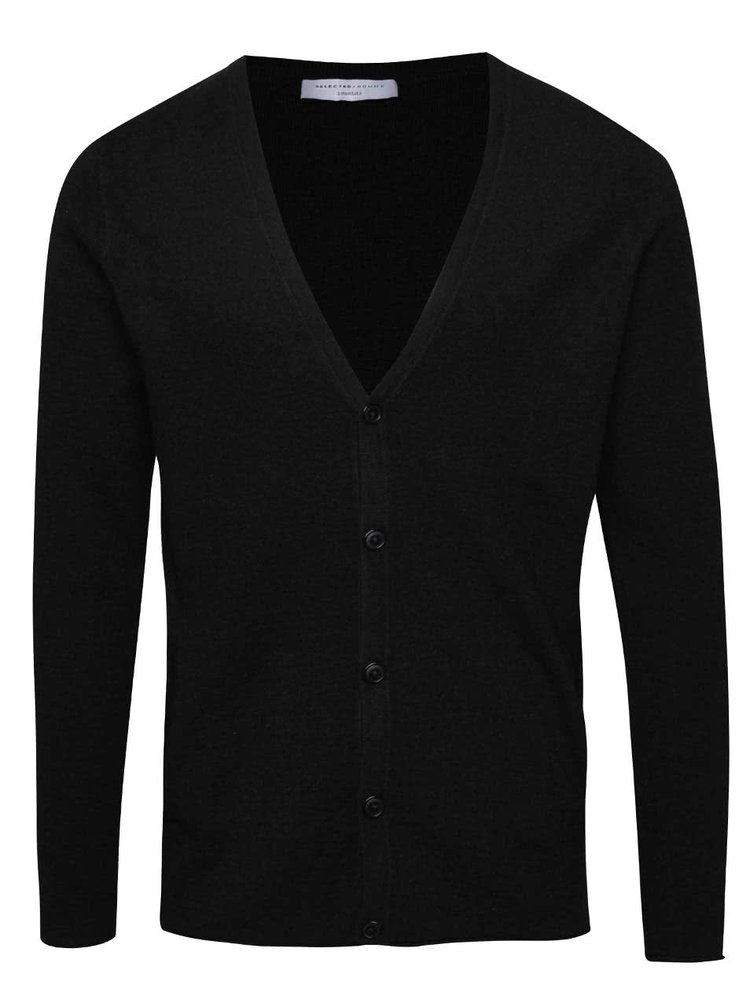 Cardigan negru Selected Homme Diowa