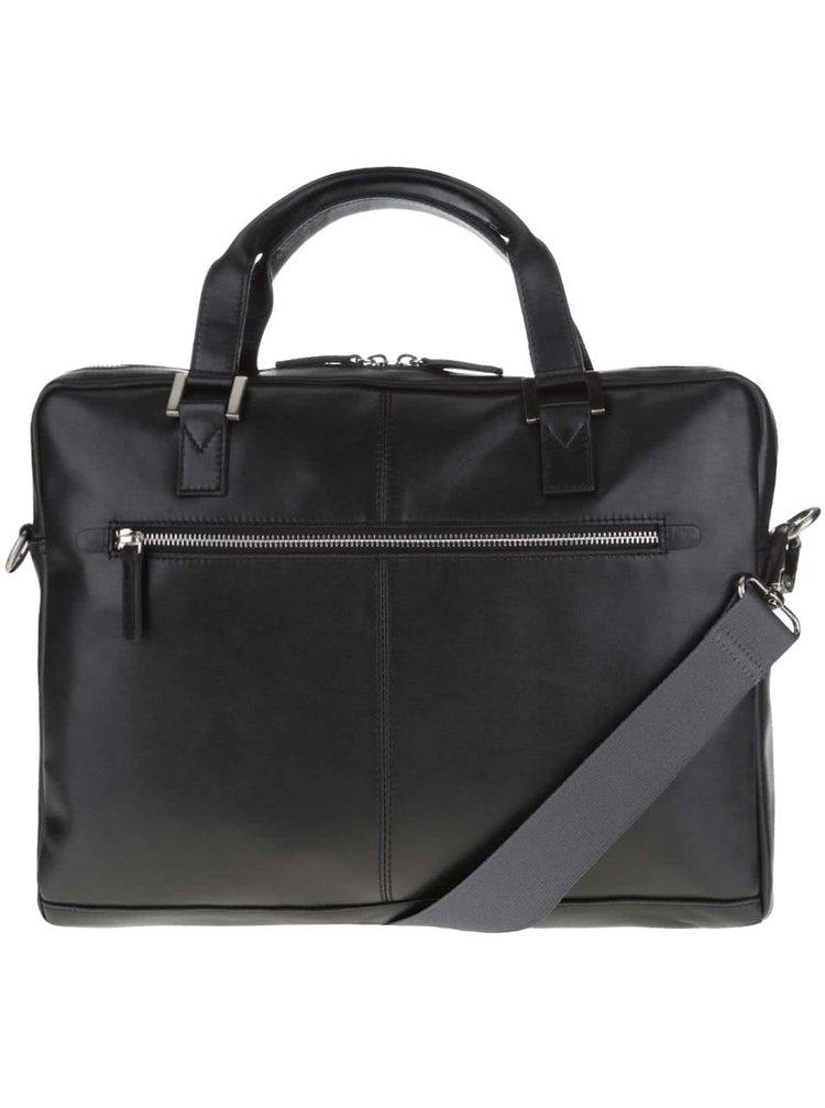 Čierna pánska kožená taška bugatti Manhattan