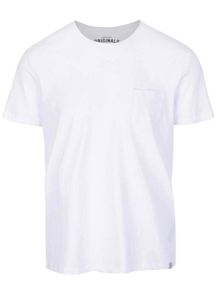 Bílé tričko s kapsou Jack & Jones Ari