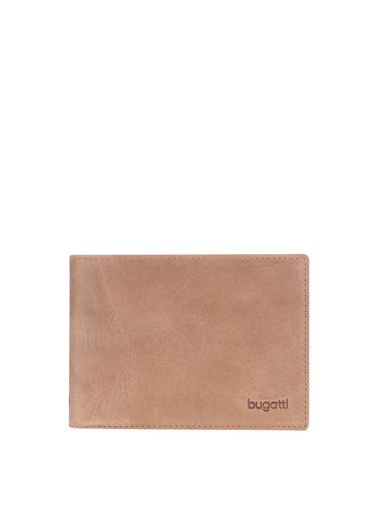 Svetlohnedá pánska kožená peňaženka bugatti Volo