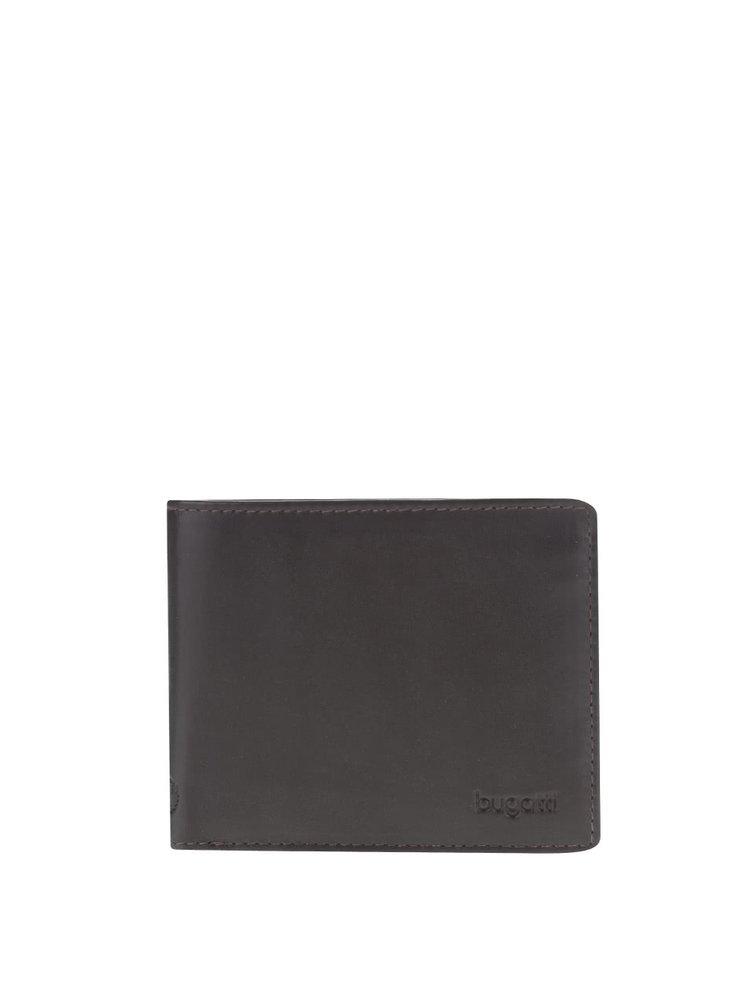 Tmavohnedá pánska kožená menšia peňaženka bugatti Primo