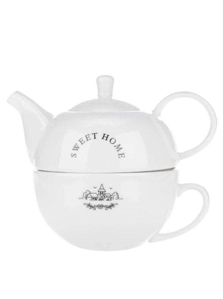 Ceainic cu ceașcă Dakls Sweet home