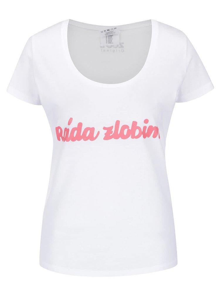 Bílé dámské tričko ZOOT Originál Ráda zlobím