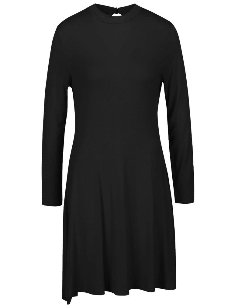 Černé volnější šaty s dlouhým rukávem Segina b.young