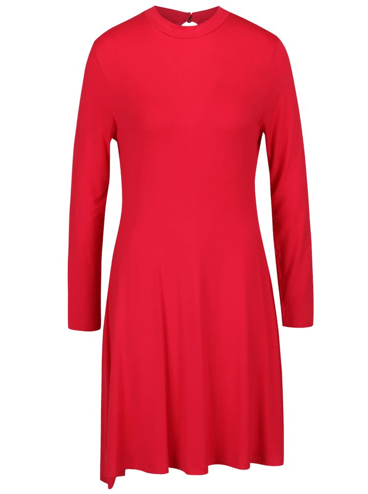 Červené volnější šaty s dlouhým rukávem Segina b.young