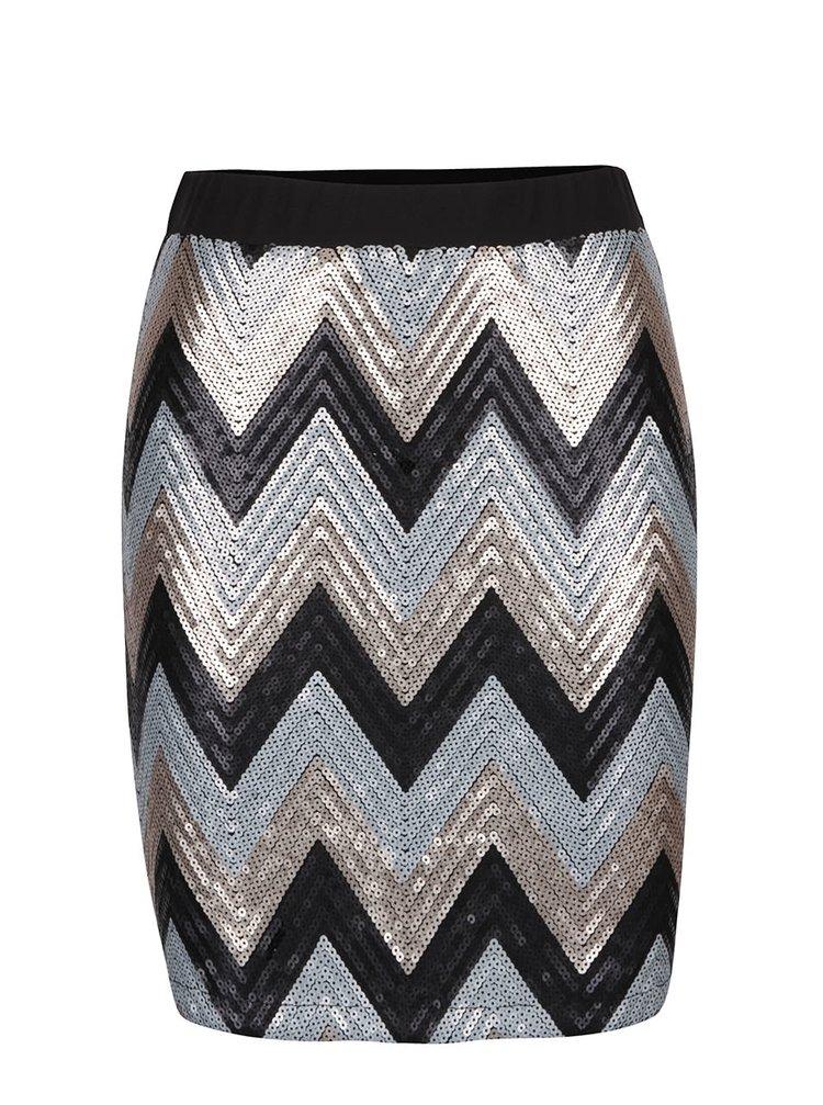 Sivo-hnedá sukňa s flitrami Hema b.young