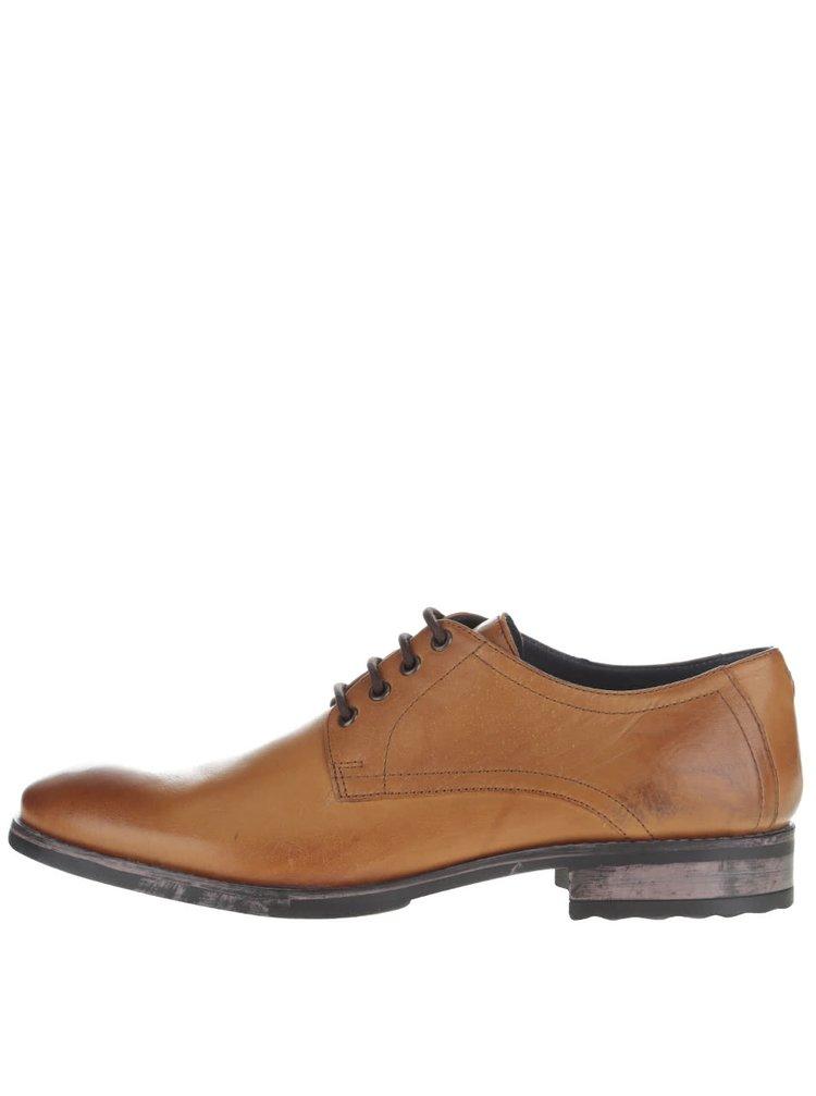 Pantofi maro deschis Frank Wright Elm din piele naturală