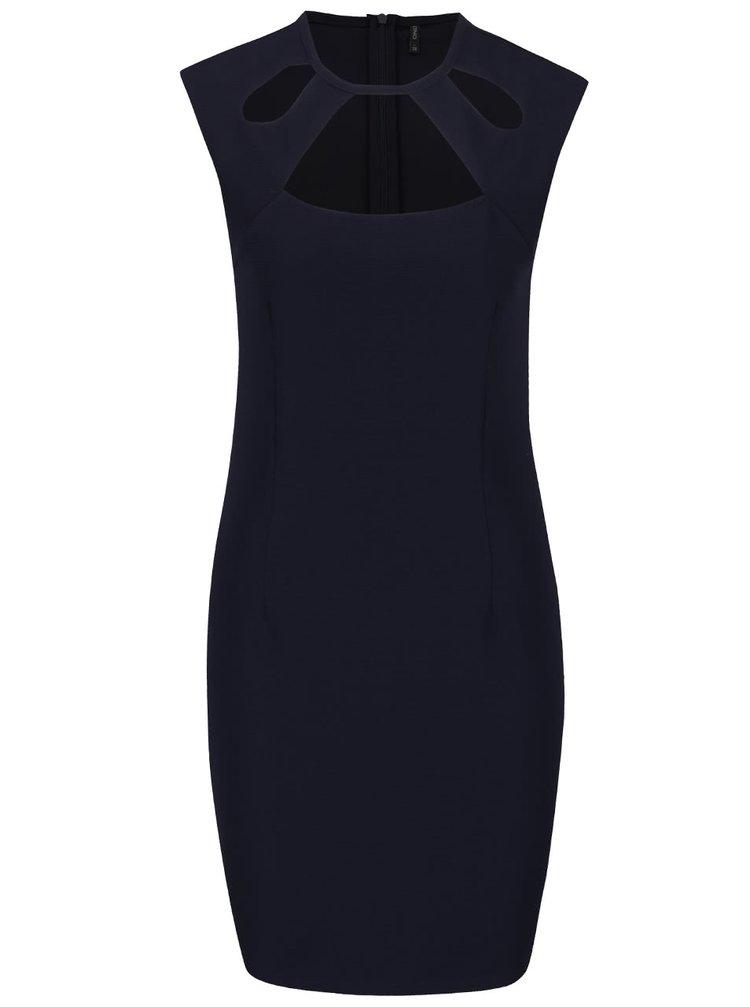 Tmavě modré šaty s průstřihy ONLY Mafer
