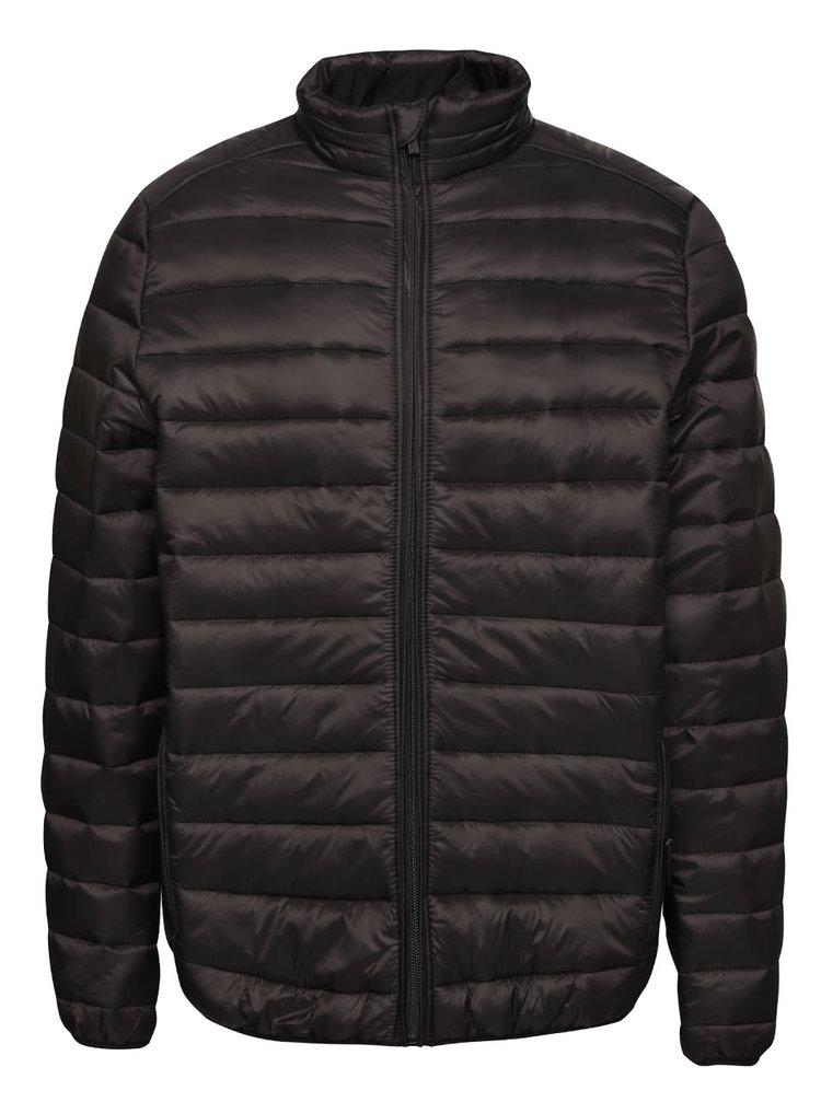Černá lehká prošívaná bunda Burton Menswear London