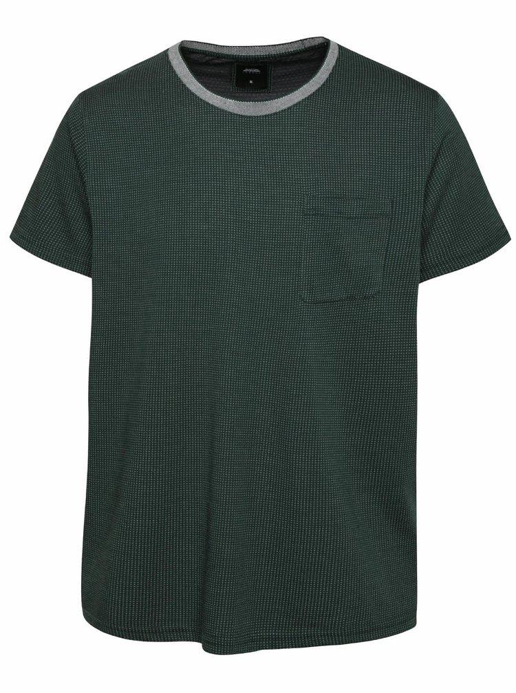 Tricou verde închis Burton Menswear London cu buzunar la piept