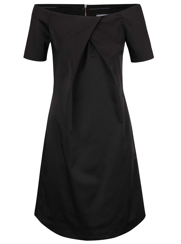 Černé šaty s lodičkovým výstřihem Closet