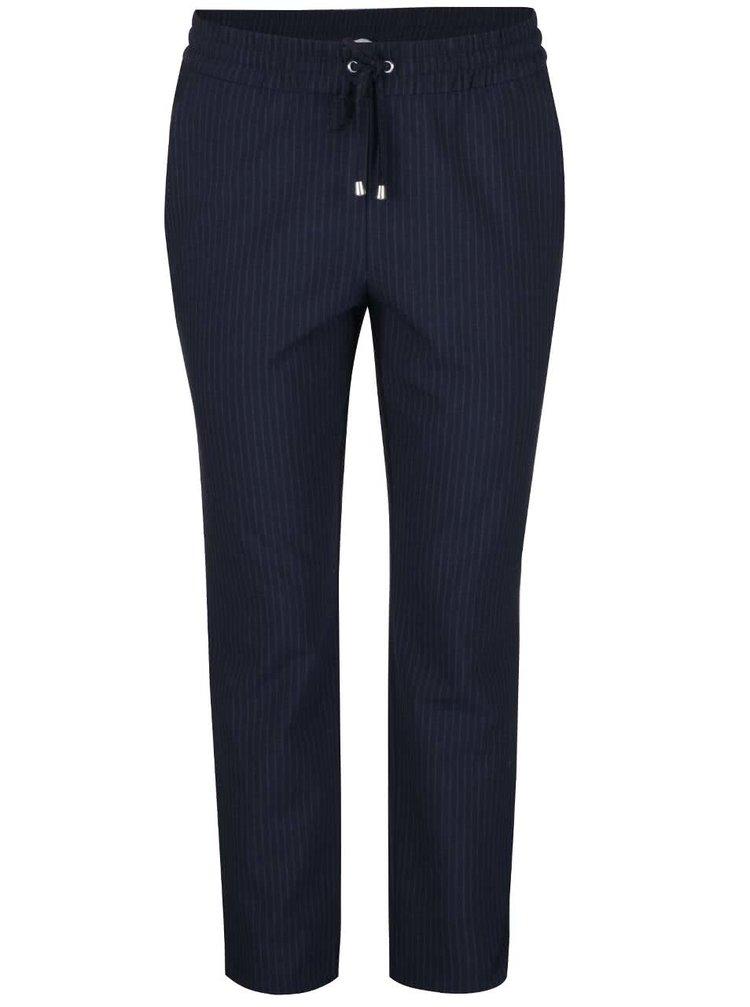 Pantaloni bleumarin ONLY Poppy cu model discret