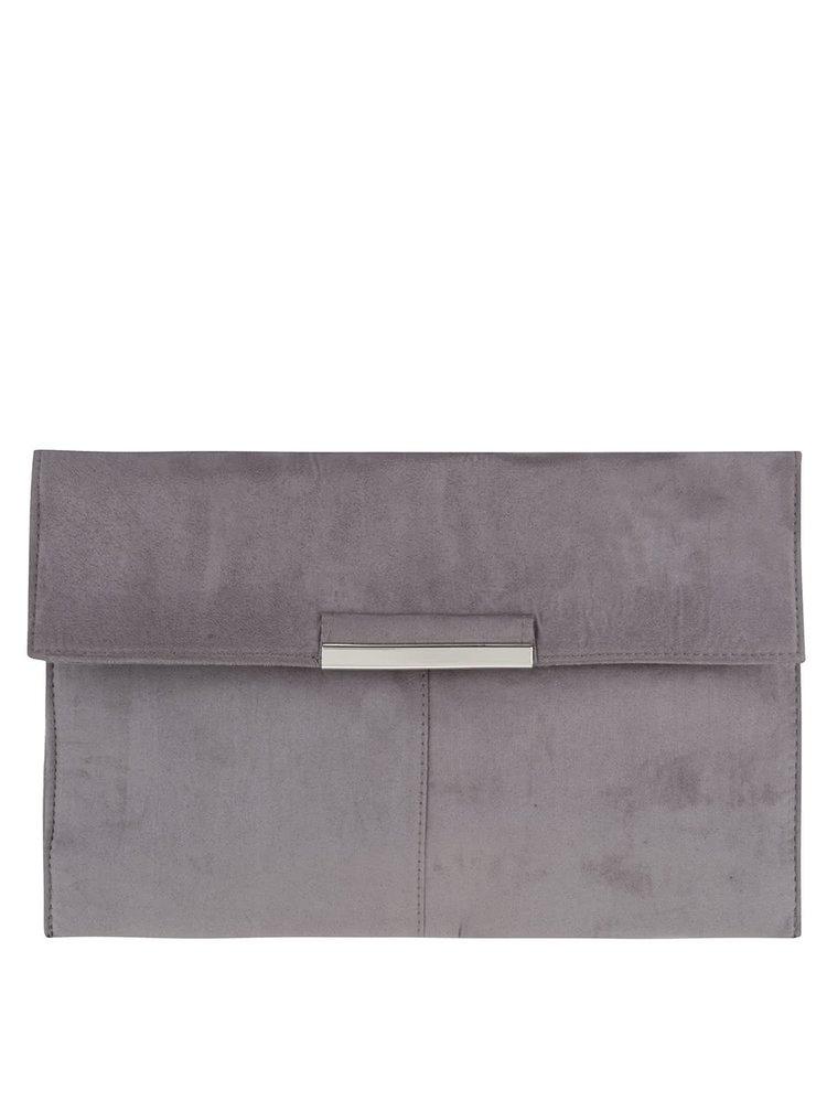Sivá listová kabelka v semišovej úprave Dorothy Perkins