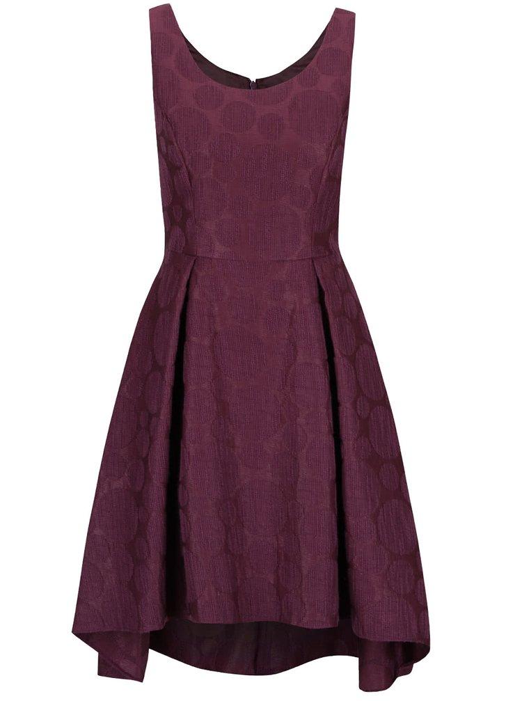 Fialové šaty s puntíkatým vzorem  Dorothy Perkins