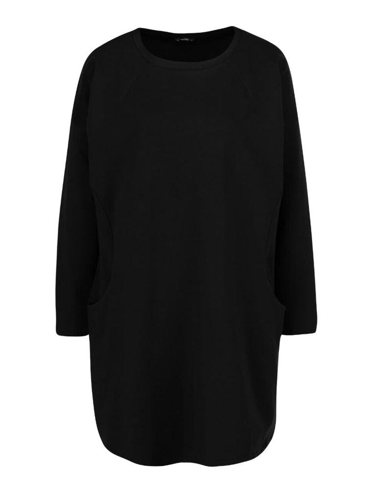 Černé volné šaty s kapsami a dlouhými rukávy ZOOT