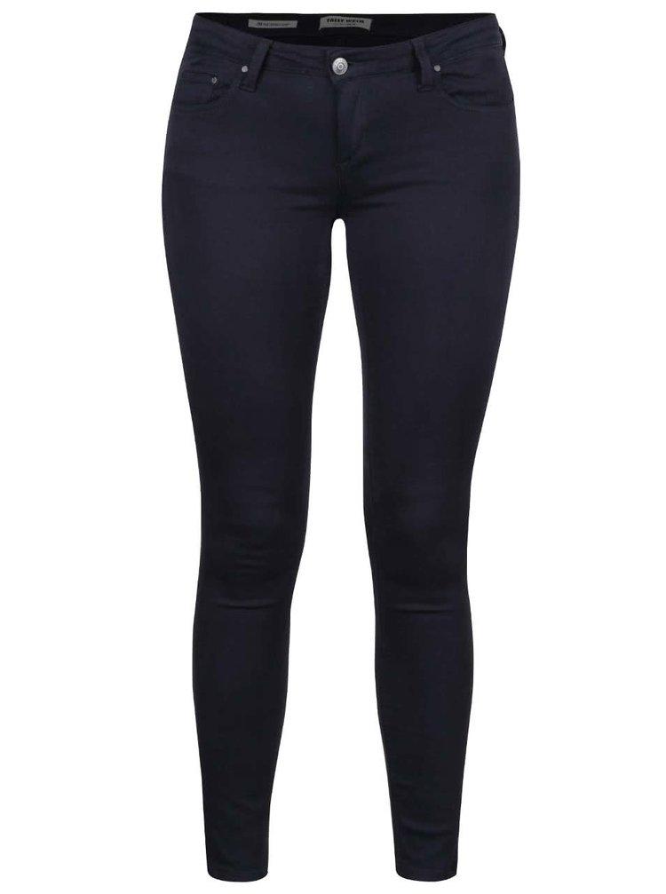 Tmavě modré skinny džíny s nízkým pasem TALLY WEiJL