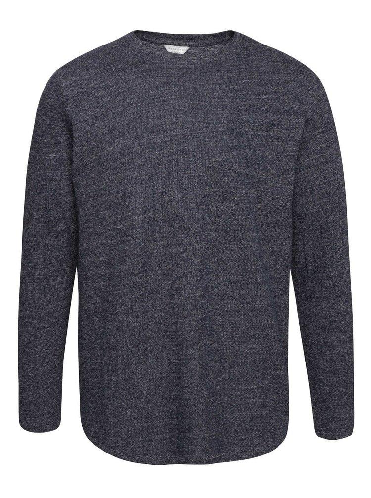 Tmavomodrý žíhaný ľahký sveter Jack & Jones Ozil