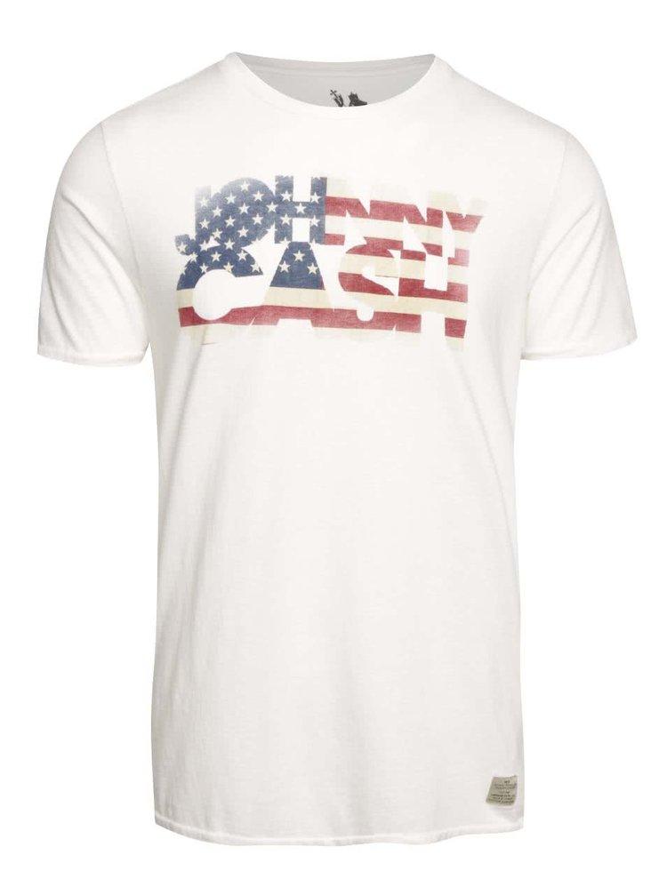 Krémové triko Jack & Jones Johny Cash