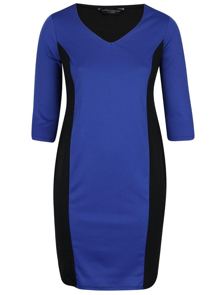 cbcb64fb9a7 Černo-modré šaty s černými pruhy po stranách Dorothy Perkins Curve ...