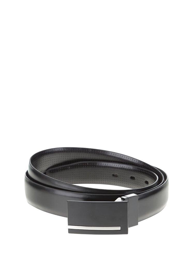 Černý pásek s jemným vzorováním Burton Menswear London