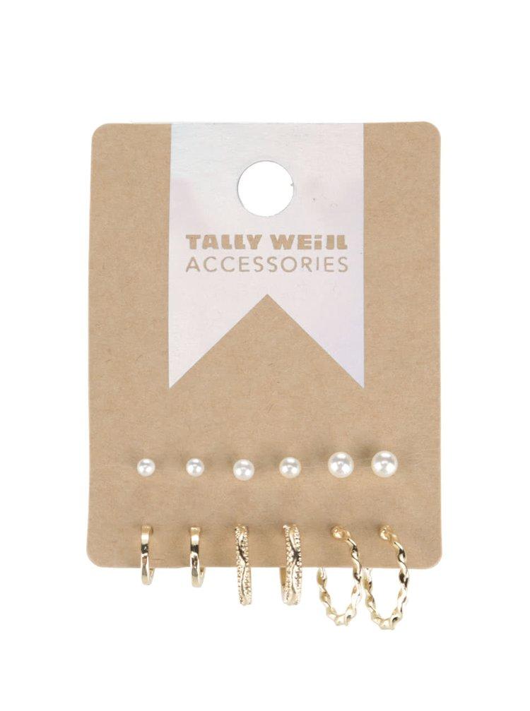 Sada šesti párů náušnic ve zlaté a perleťové barvě Tally Weijl