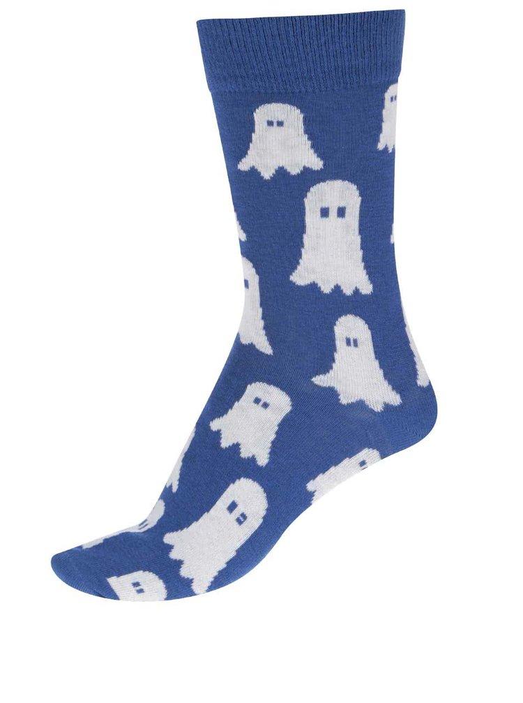 Modré unisex ponožky so strašidlami  ZOOT Originál