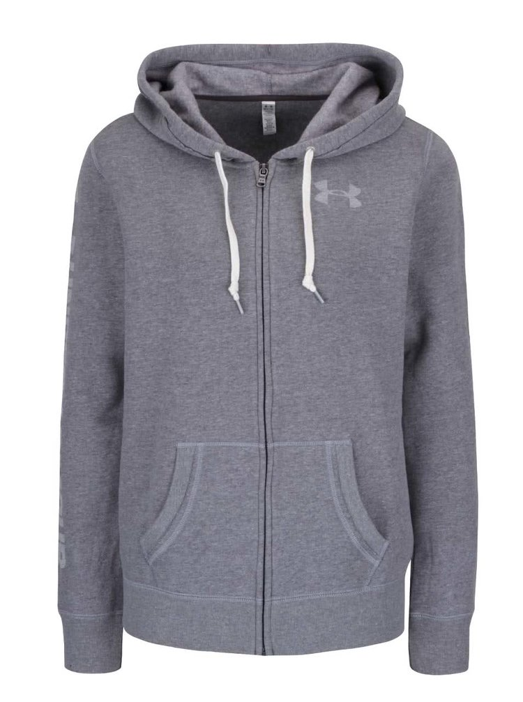 Šedá dámská mikina Under Armour Favorite Fleece Full Zip