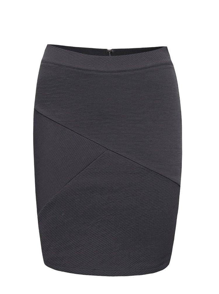 Šedomodrá strečová sukně VILA Striben
