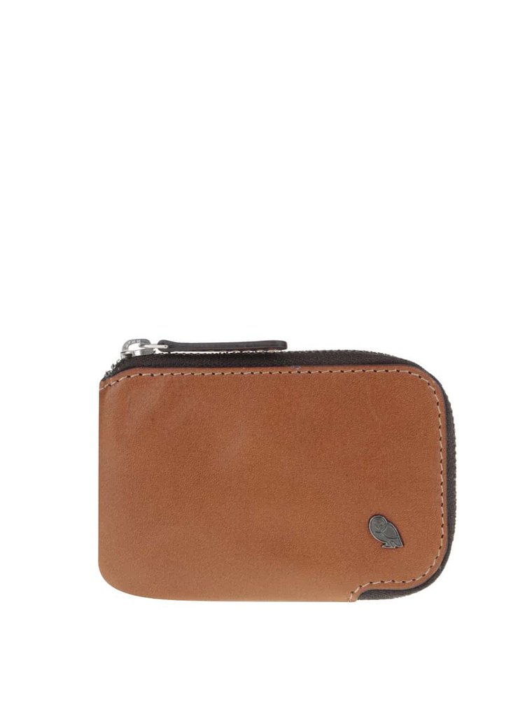 Světle hnědé kožené pouzdro na karty Bellroy Card Pocket