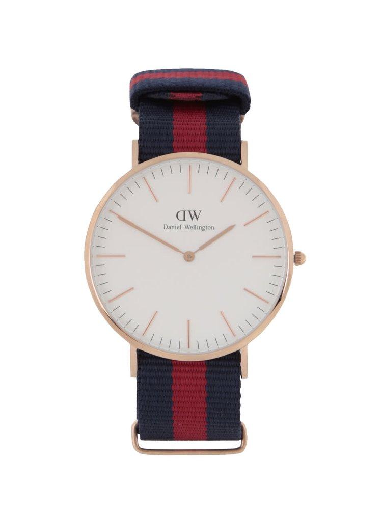 Pánske hodinky v zlatej farbe CLASSIC Oxford Daniel Wellington