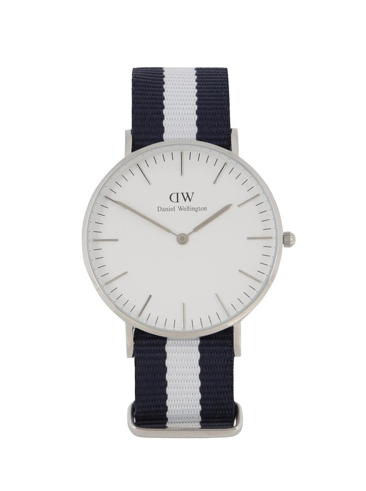 Dámské hodinky ve stříbrné barvě CLASSIC Glasgow Daniel Wellington