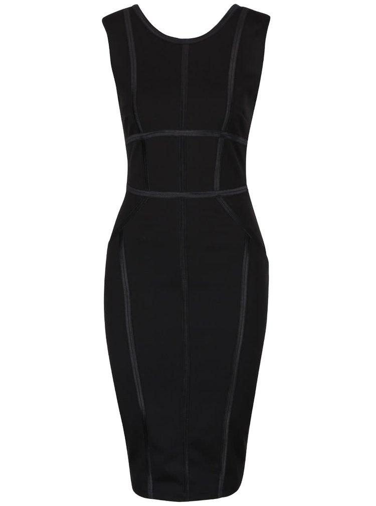 Černé šaty s linkami Goddiva