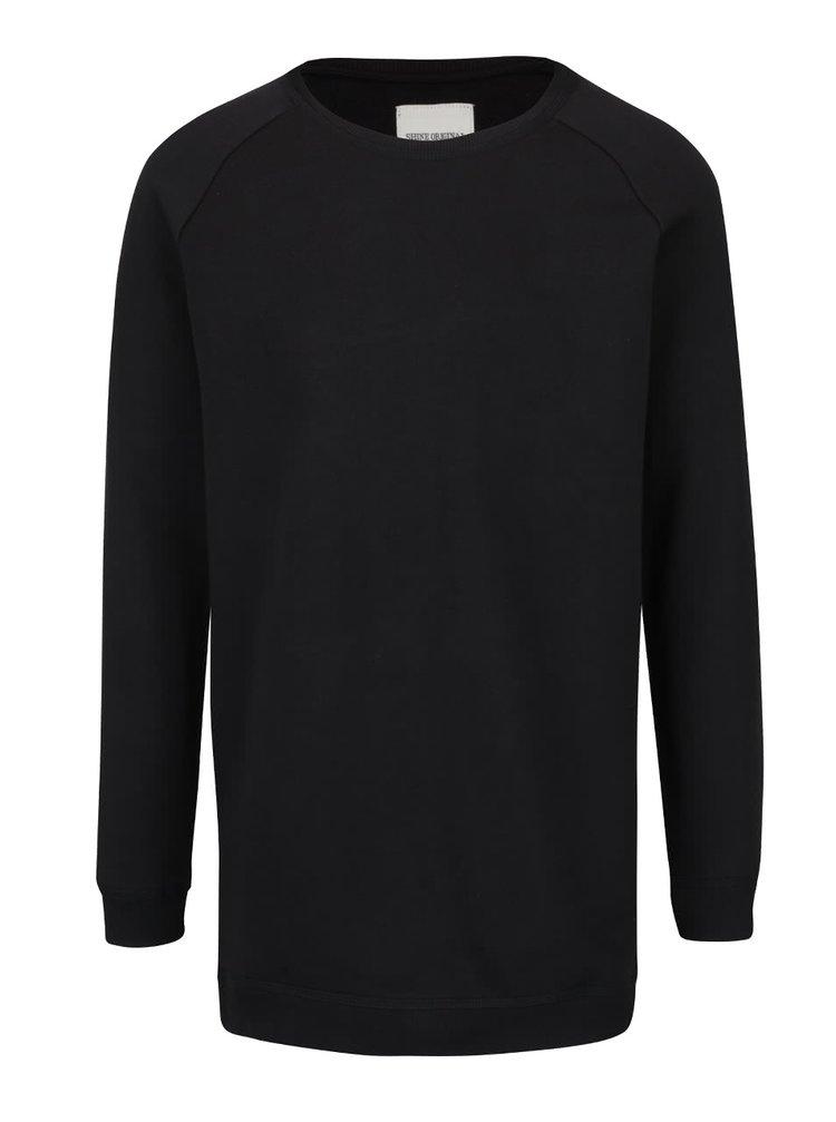 Pulover lung negru Shine Original din bumbac