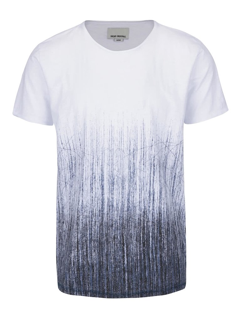 Šedo-bílé triko s potiskem Shine Original