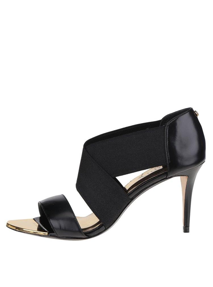 Sandale cu toc negre Ted Baker Leniya
