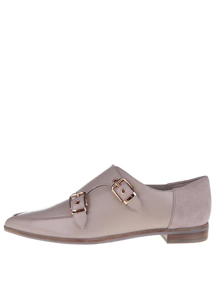 Pantofi bej din piele, cu catarame Ted Baker Naoi