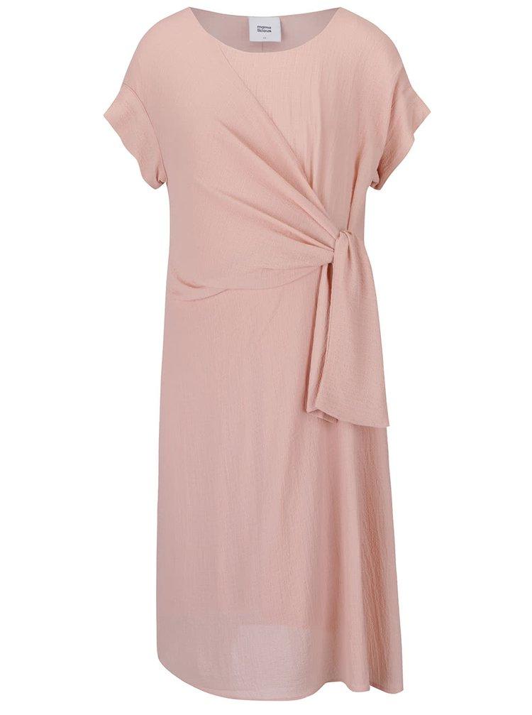 Meruňkové těhotenské šaty Mama.licious Adeline