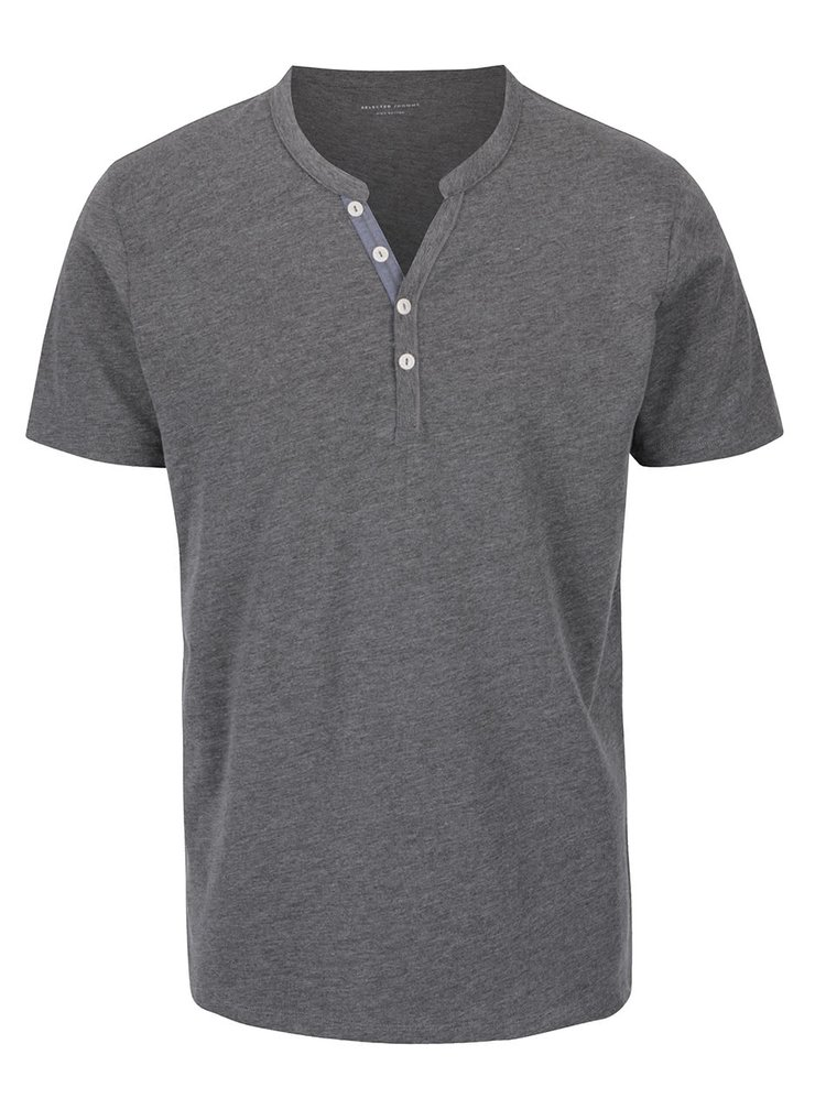 Tricou gri Selected Homme Pima